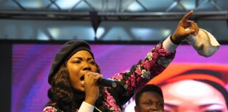 Mercy Chinwo live on stage