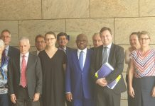 Rivers State Governor, Nyesom Ezenwo Wike (m) and a cross section of European Union Ambassadors